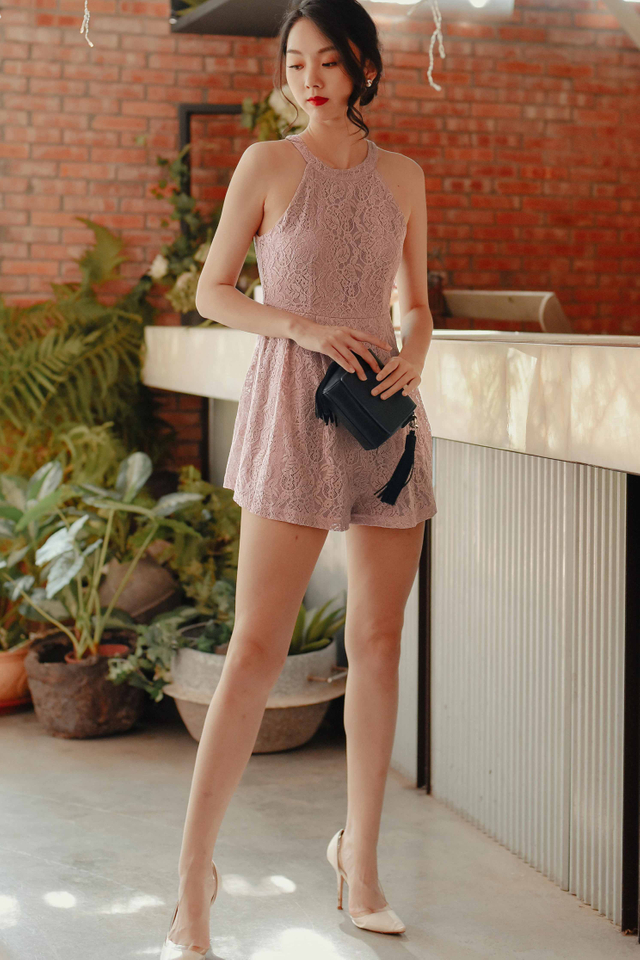 EDELWEISS PLAYSUIT IN PINK