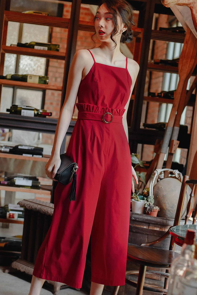 HAGEN JUMPSUIT IN RED