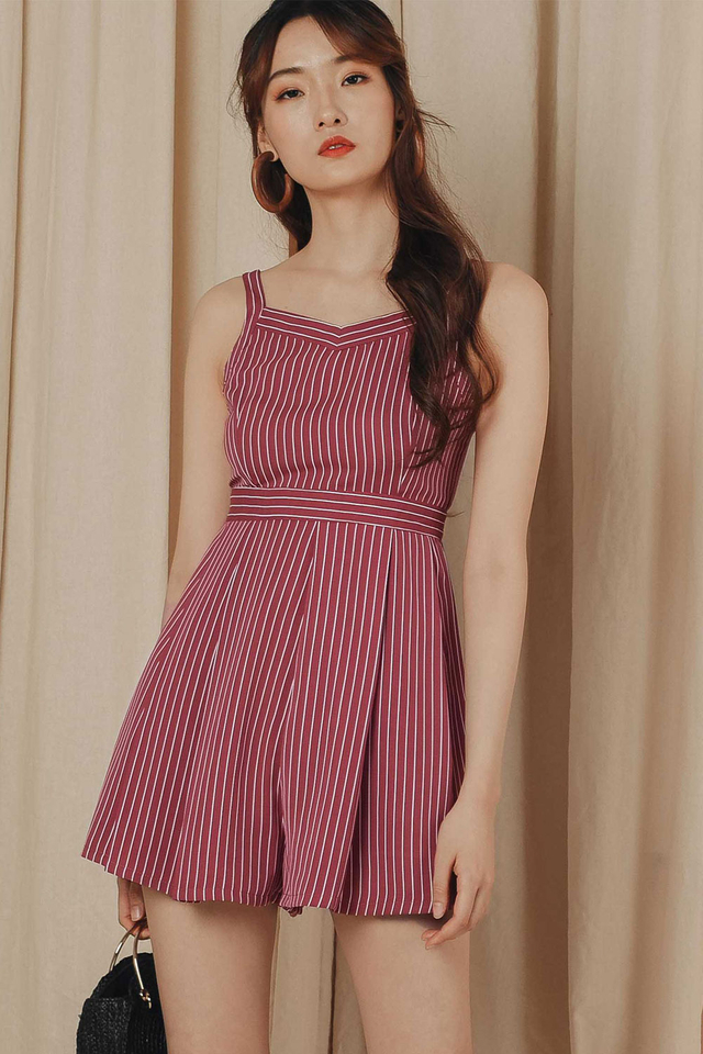SHILOH PLAYSUIT IN ROSE