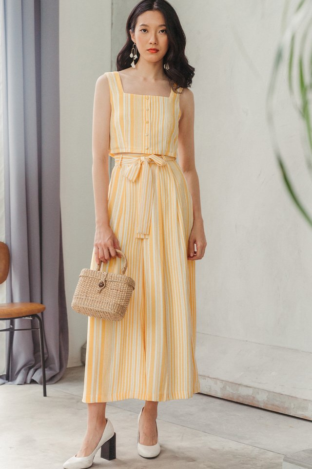 PARKER STRIPED TOP IN MARIGOLD