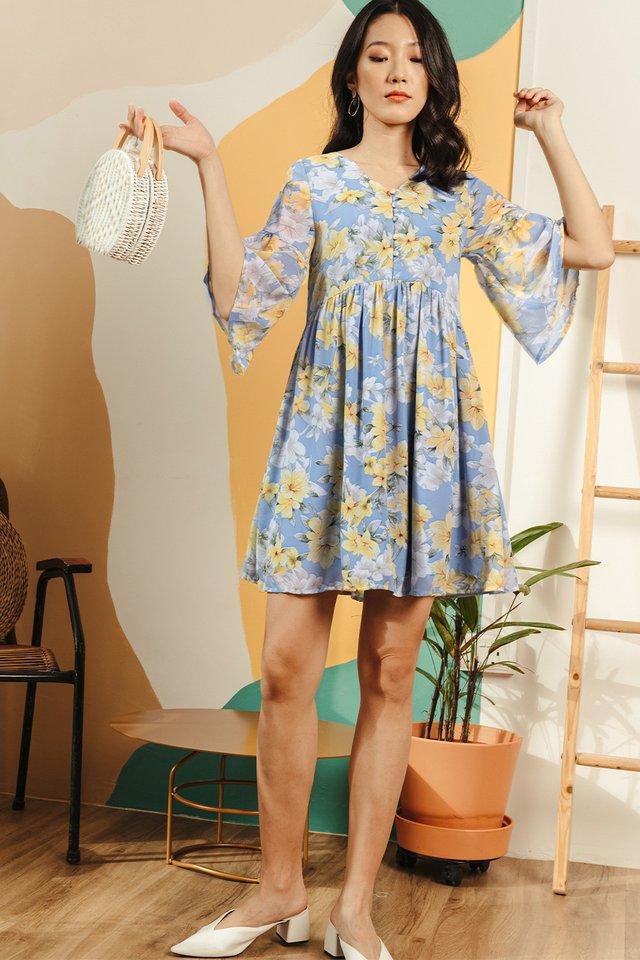 HIRA BABYDOLL DRESS IN BLUE