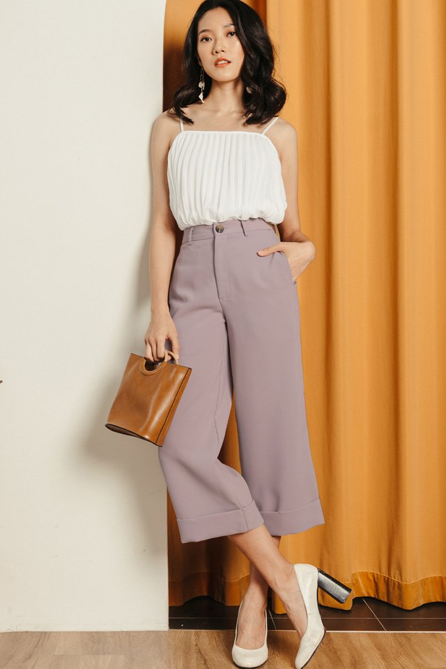 *BACKORDER* KYNA CUFFED CULOTTES IN LILAC PINK