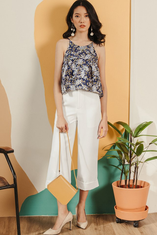 *BACKORDER* KYNA CUFFED CULOTTES IN WHITE