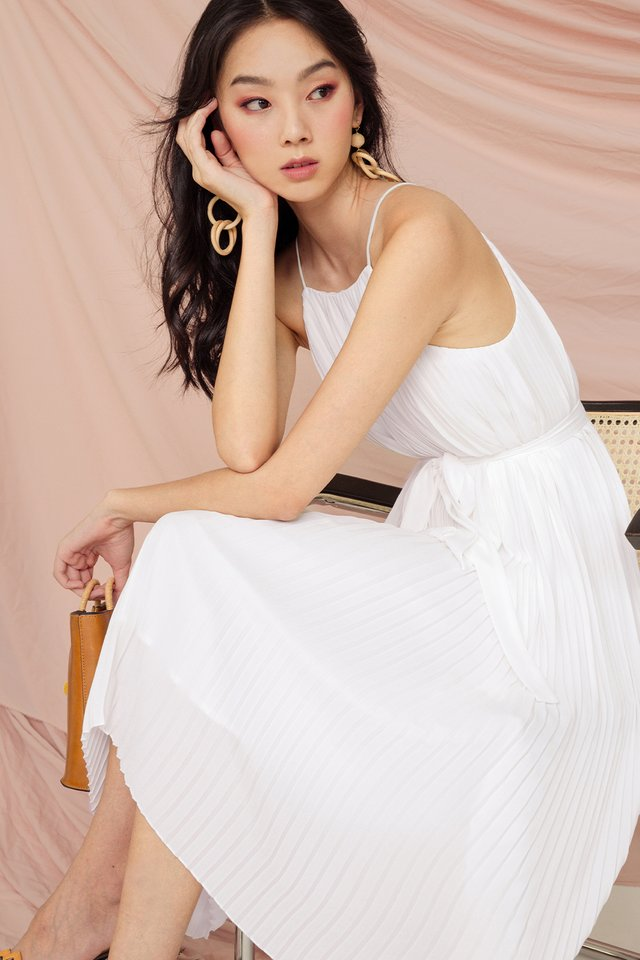 COLETTE PLEAT MIDI IN WHITE