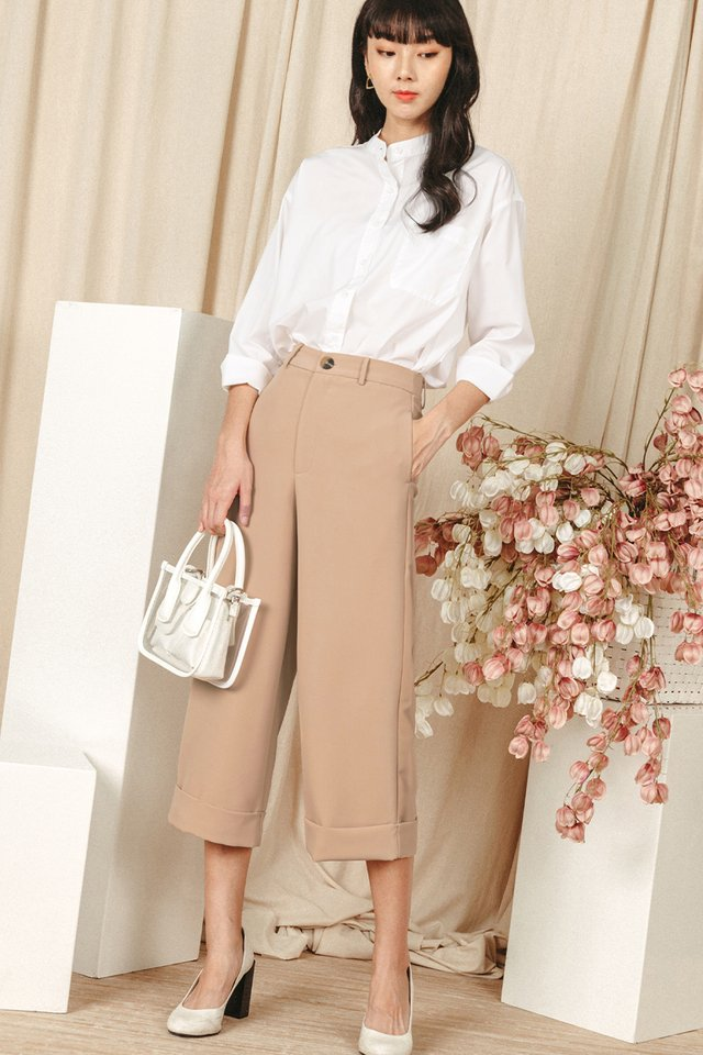 *BACKORDER* KYNA CUFFED CULOTTES IN SAND