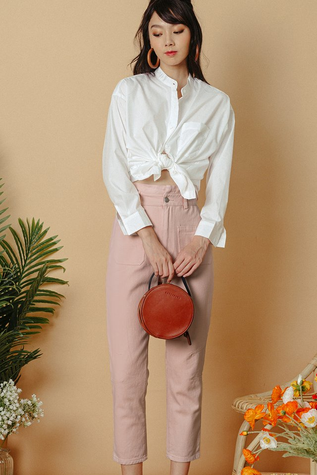 BECCA PAPERBAG PANTS IN PINK