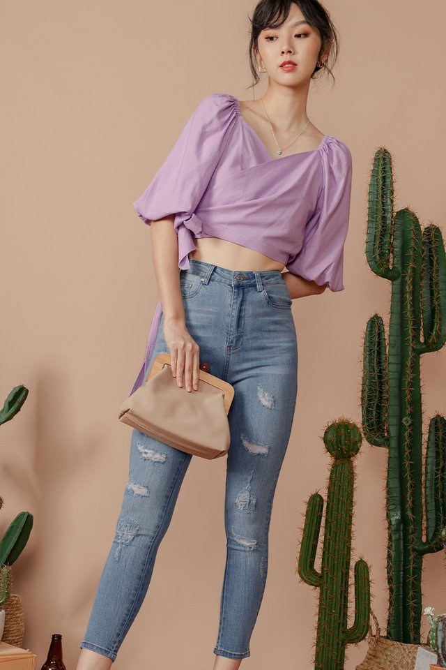 *BACKORDER* JACO RIPPED JEANS IN LIGHT WASH