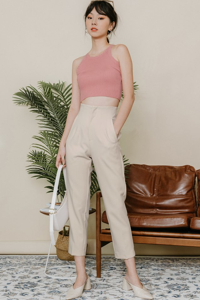 *BACKORDER* RAIKO PANTS IN IVORY BEIGE