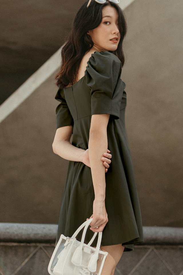 GRAYSON DRESS IN MILITARY