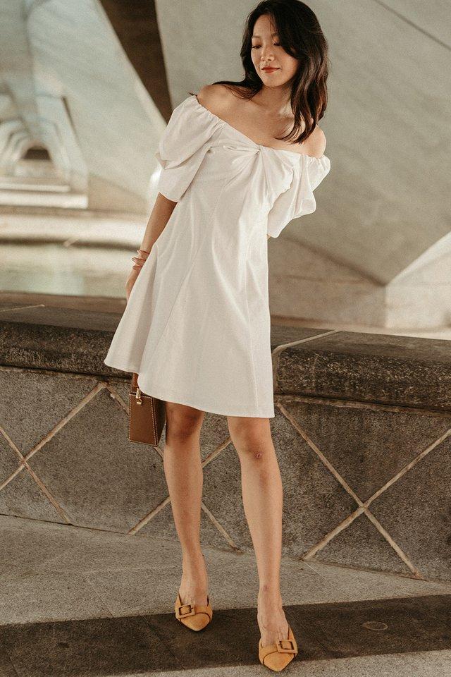 GRAYSON DRESS IN WHITE