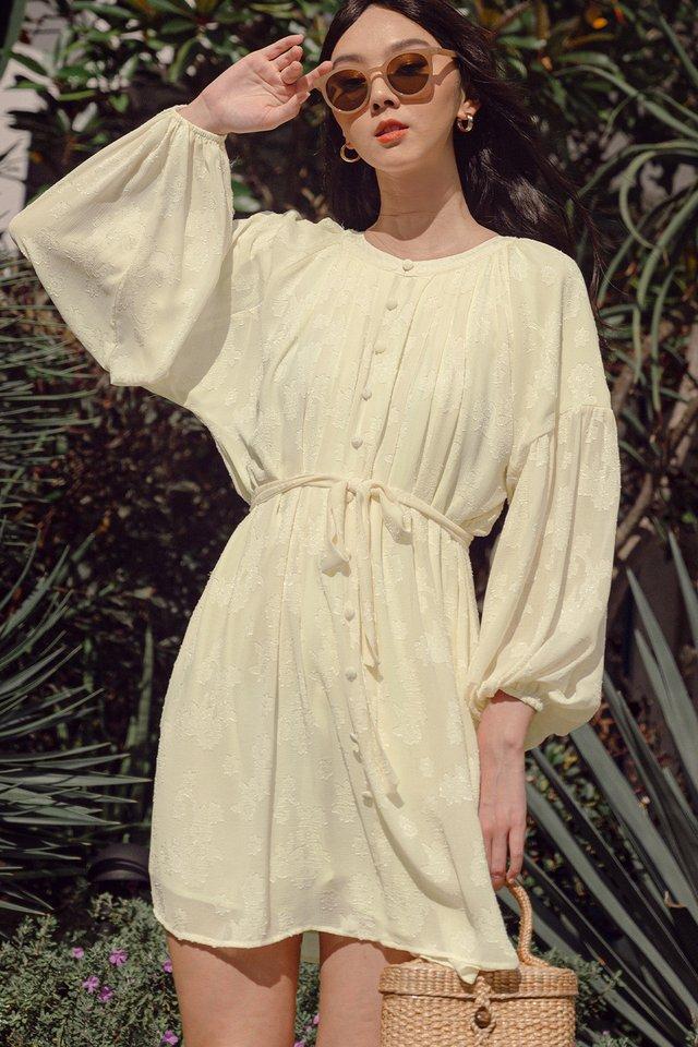 KAIDI SASH DRESS IN CREAM