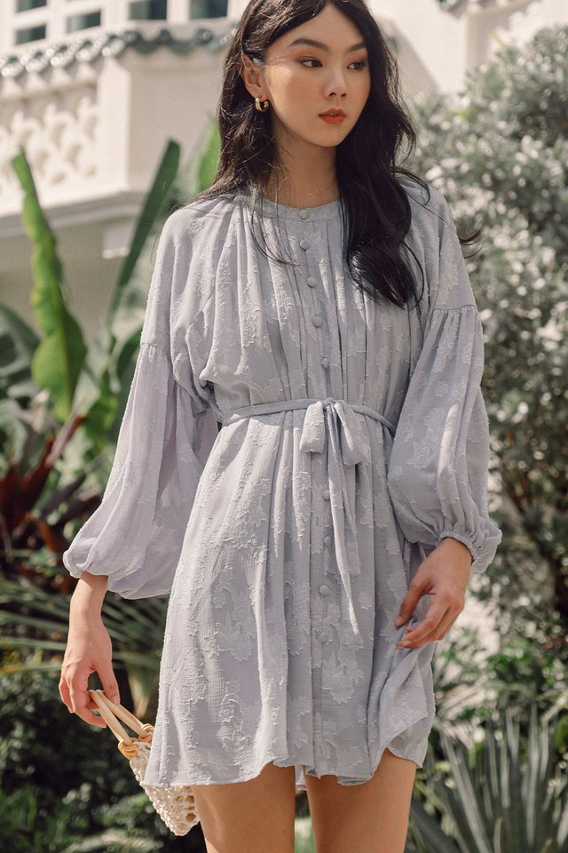 KAIDI SASH DRESS IN MOONSTONE