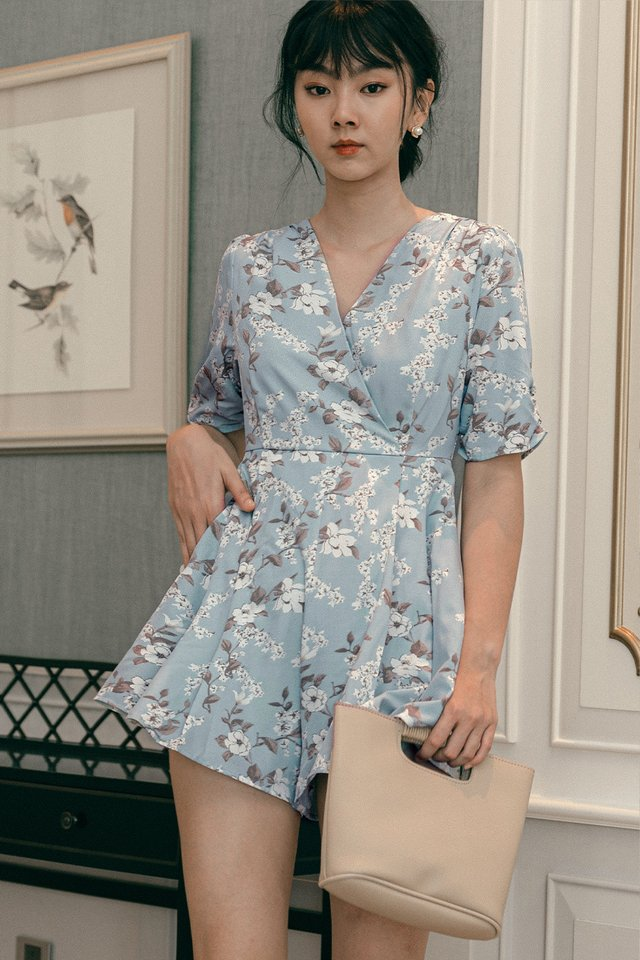 CALEY PLAYSUIT IN BLUE