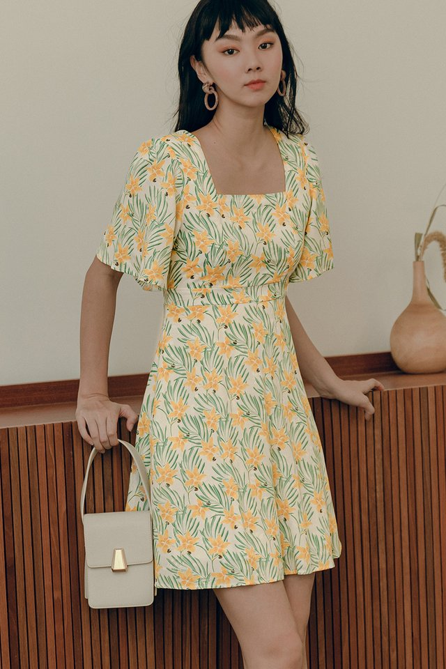 ELERY DRESS IN YELLOW