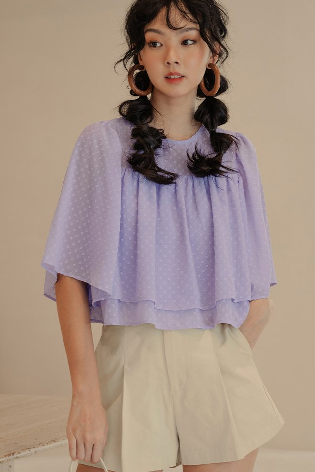 ADLER TIERED TOP IN LAVENDER