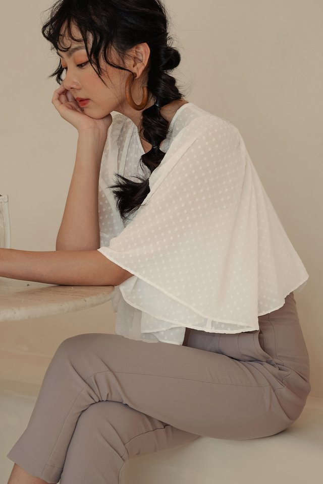 ADLER TIERED TOP IN WHITE