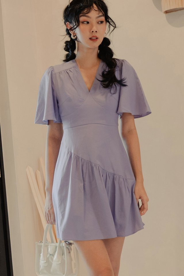BURKE LINEN DRESS IN LAVENDER