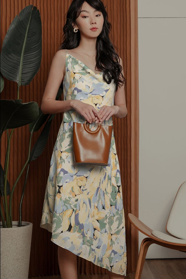 ELDORA FLORAL MAXI IN YELLOW BLUE