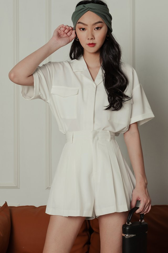 LAYLA POCKET TOP IN WHITE
