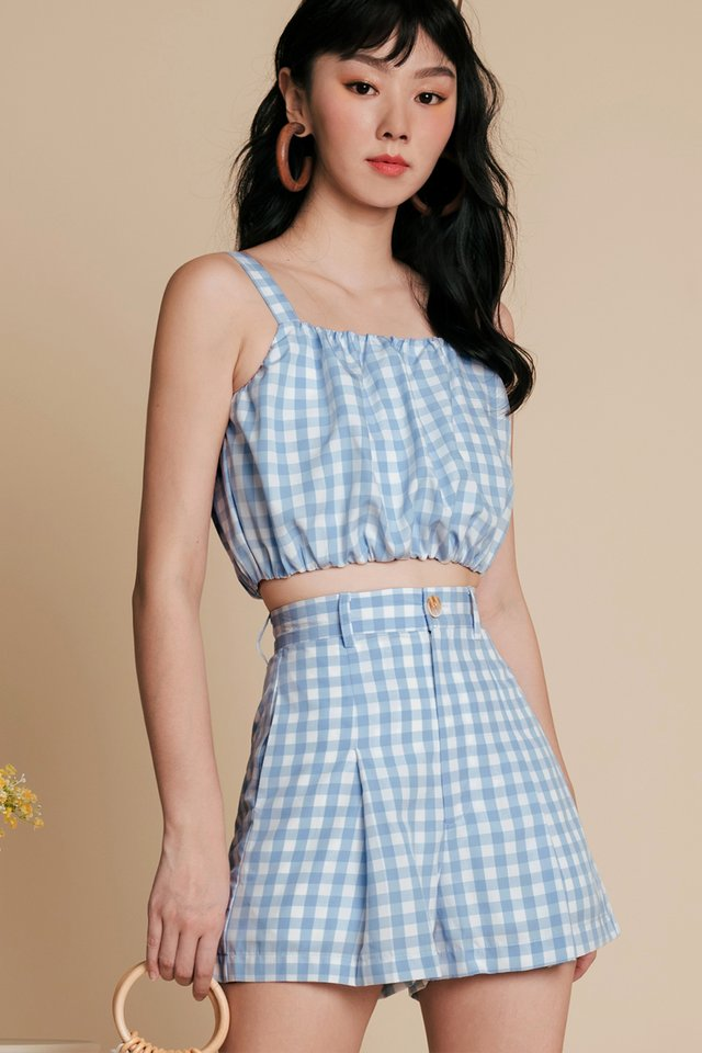 LORNA GINGHAM SHORTS IN BLUE