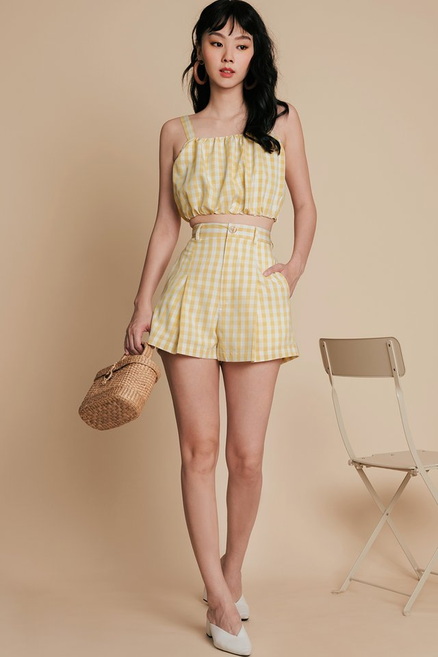 LORNA GINGHAM TOP IN MELLOW YELLOW