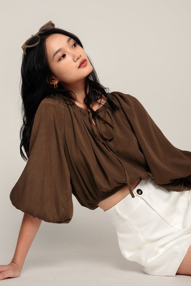 QUINN TOP IN COCOA