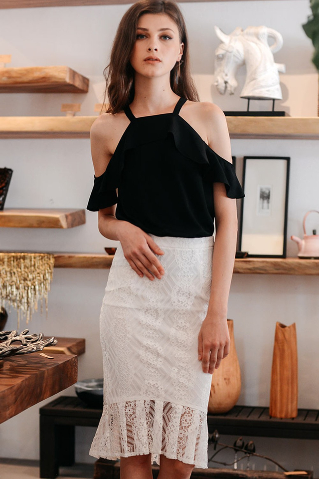 VARELIA SKIRT IN WHITE