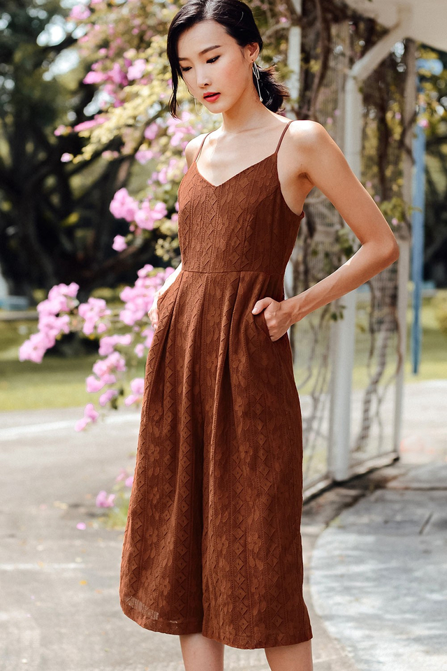 LAUDINE JUMPSUIT IN PECAN