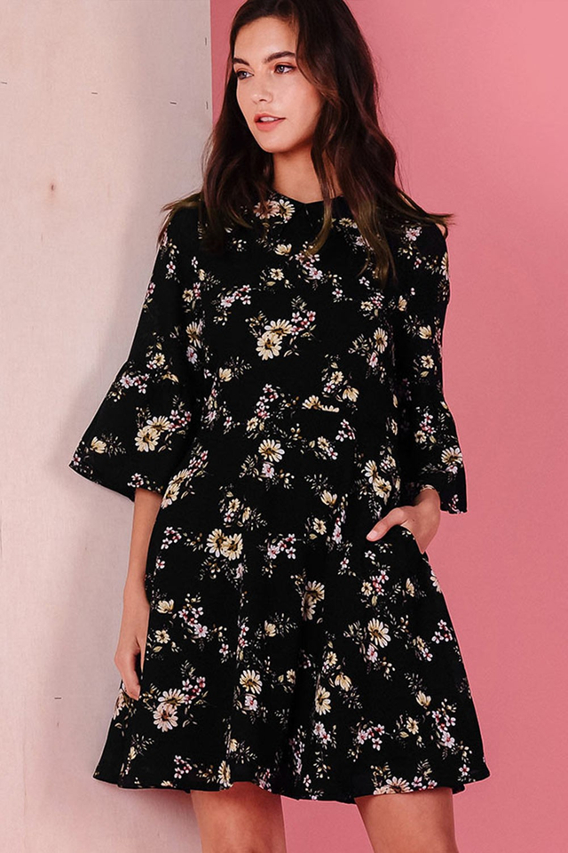 HUDSON DRESS IN BLACK