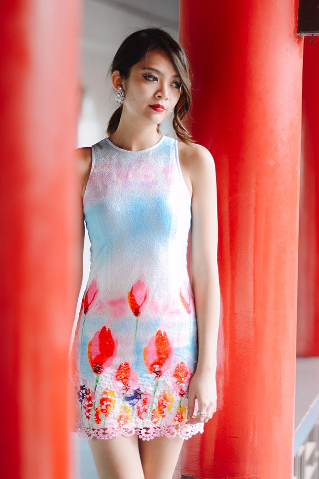 *BRIDGE* Tulip Symphony Dress in Rainbow