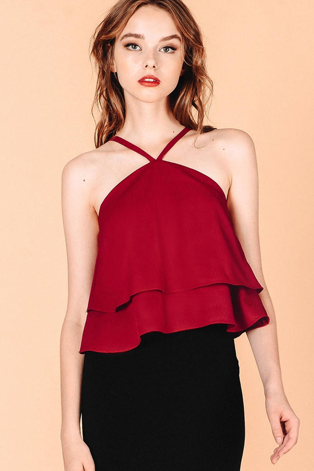 THEODORA TOP IN RED