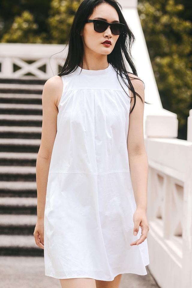 STRASBOURG SHIRT DRESS IN WHITE