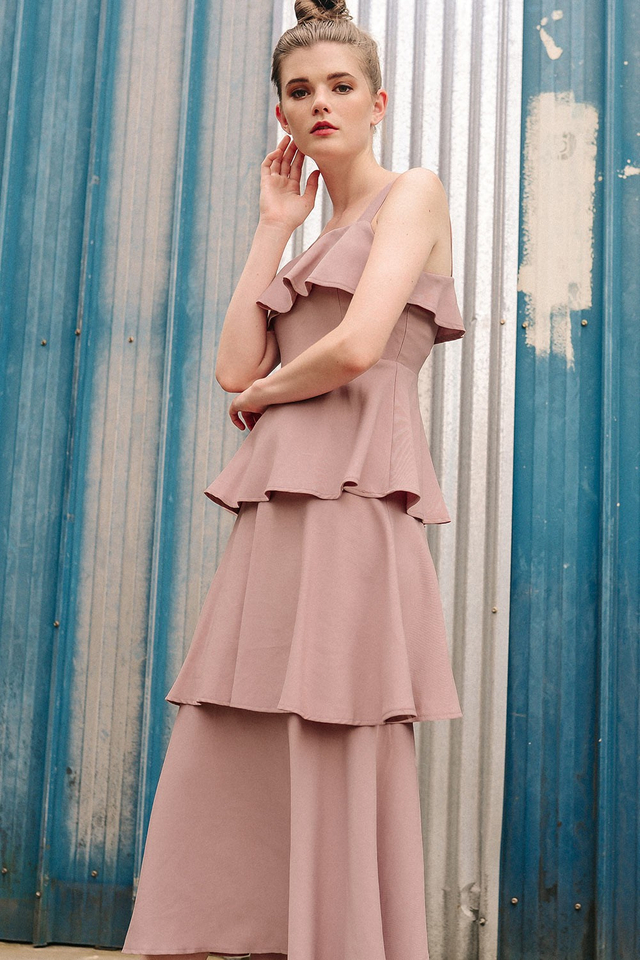 ABBEY TIERED MAXI IN PINK