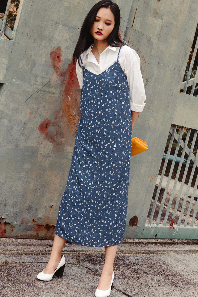 GIVERNY SLIP MAXI IN BLUE