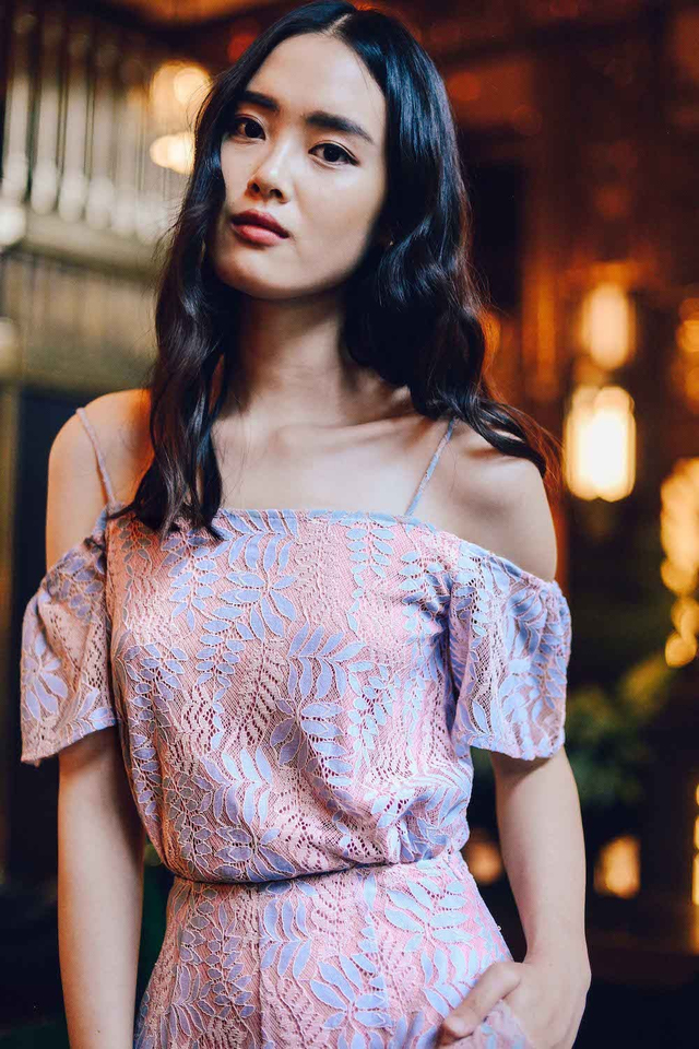 CAMILLE TOP IN PINK BLUE