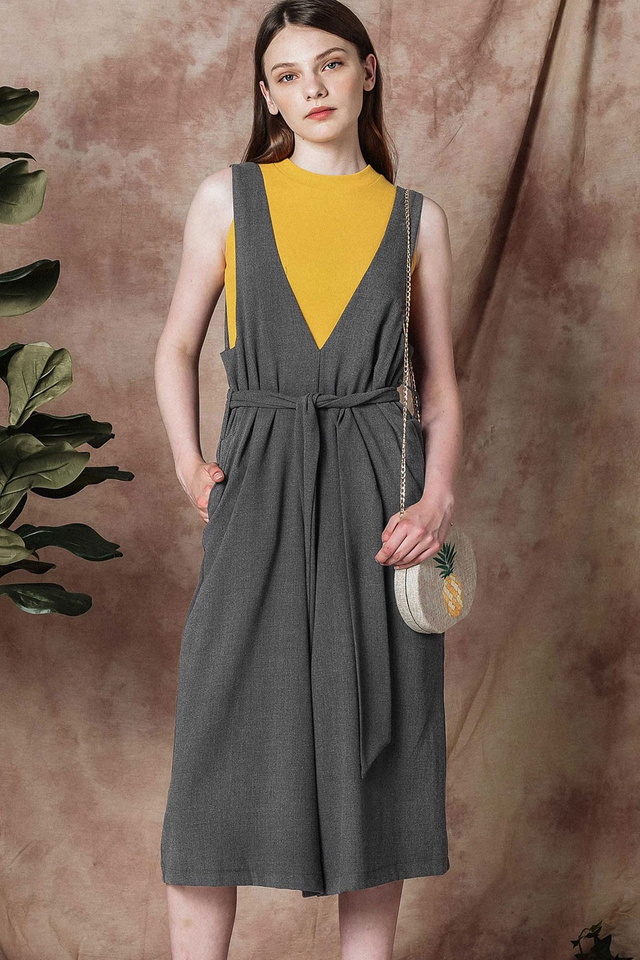 ZICO SASHED JUMPSUIT IN GREY