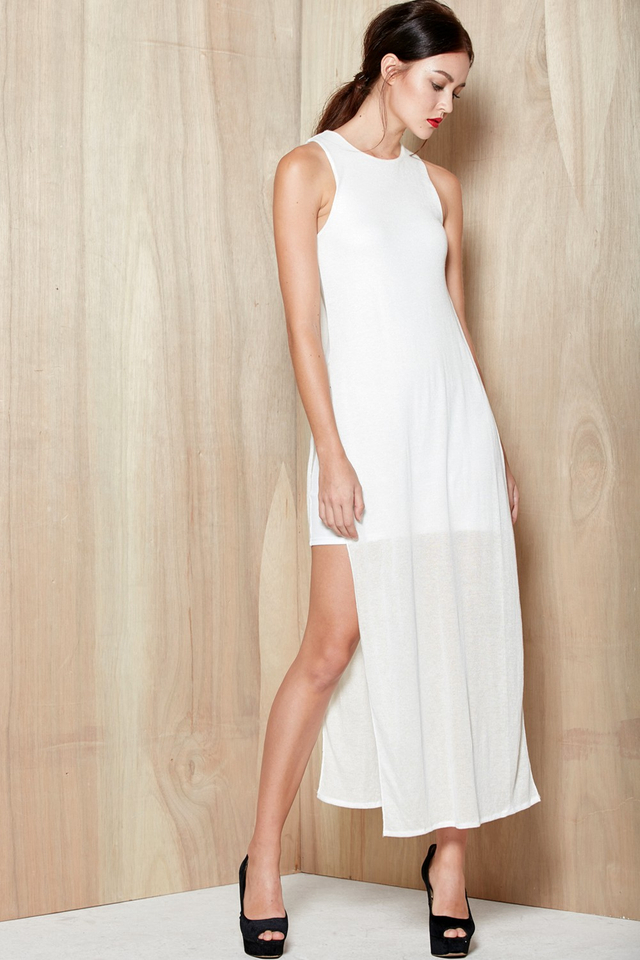 *BRIDGE* Lois Faux Maxi in White