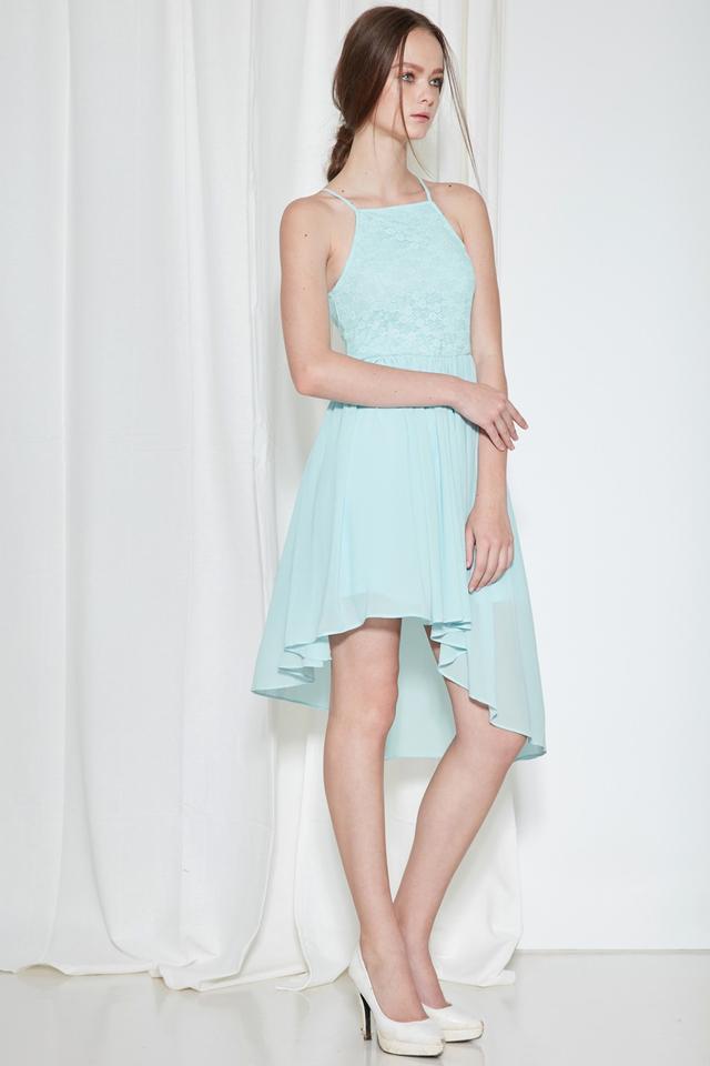 *BRIDGE* Cherish Lace Dress in Powder Blue